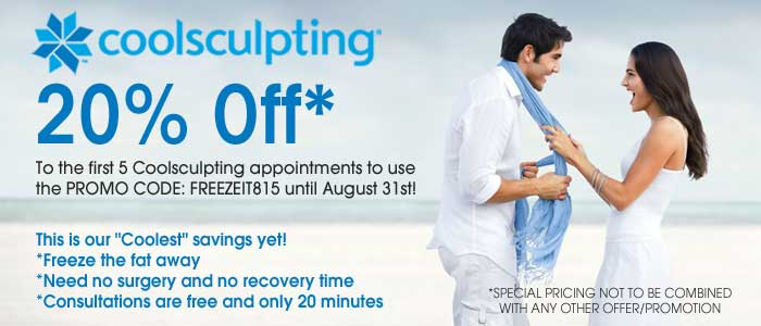 Coolsculpting August Specials Promotion