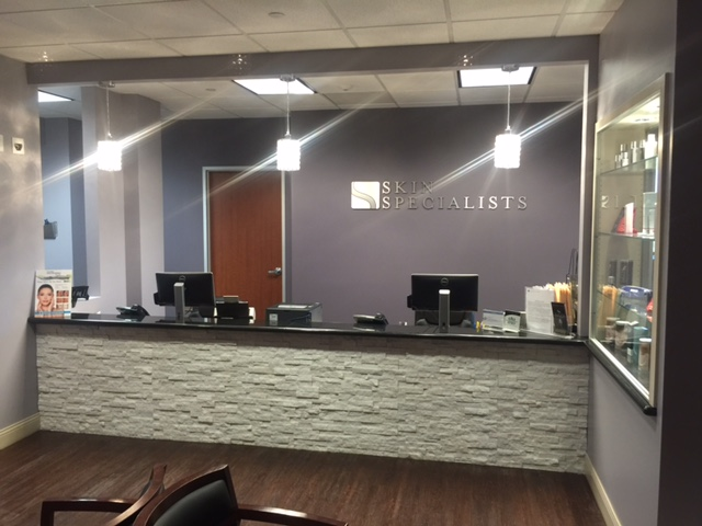 Skin Specialists receptionist area